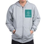 Keep Calm and Stay Underwater Zip Hoodie