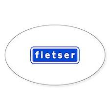 fietser Sticker (Oval)