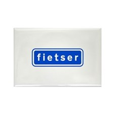 fietser Rectangle Magnet