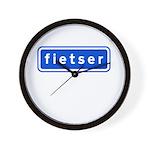fietser Wall Clock