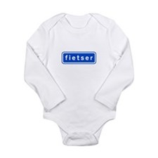 fietser Long Sleeve Infant Bodysuit