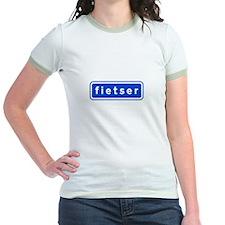 fietser Jr. Ringer T-Shirt