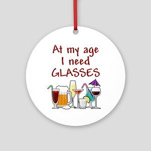 I need glasses Ornament (Round)