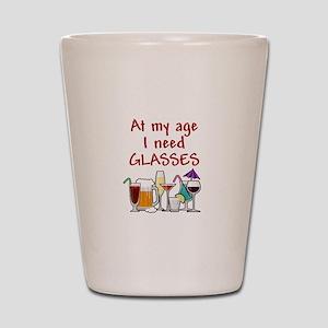 I need glasses Shot Glass