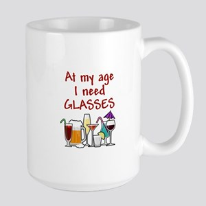 I need glasses Large Mug