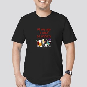 I need glasses Men's Fitted T-Shirt (dark)