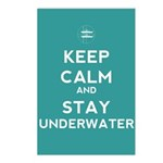 Keep Calm and Stay Underwater Postcards (Package o