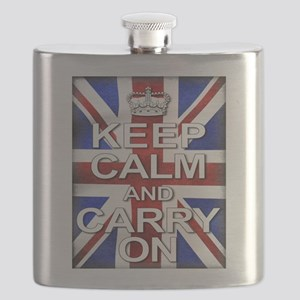 Keep Calm and Carry On Union Jack Flask