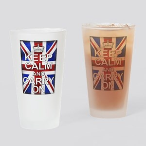 Keep Calm and Carry On Union Jack Drinking Glass