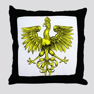 Yellow Phoenix Throw Pillow