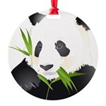 Panda Bear Round Ornament