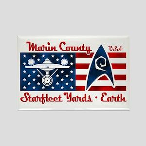 Marin County Starfleet Yards Rectangle Magnet