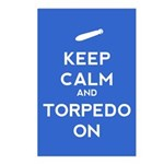 Keep Calm and Torpedo On Postcards (Package of 8)
