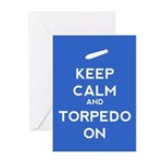 Keep Calm and Torpedo On Greeting Cards (Pk of 10)