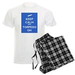 Keep Calm and Torpedo On Men's Light Pajamas