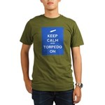 Keep Calm and Torpedo On Organic Men's T-Shirt (da