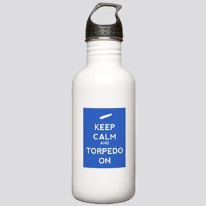Keep Calm and Torpedo On Stainless Water Bottle 1.