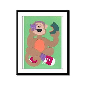 Madison Monkey Framed Panel Print