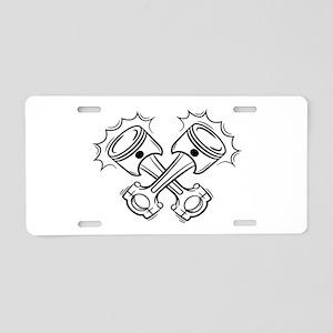 Pistons Aluminum License Plate