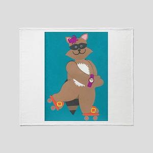 Robin Raccoon Throw Blanket