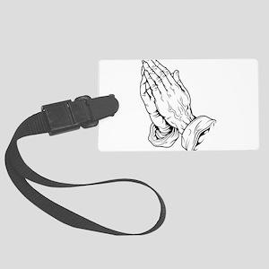 Praying Hands Large Luggage Tag