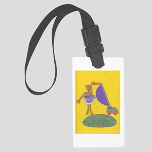 Violet Vole Large Luggage Tag