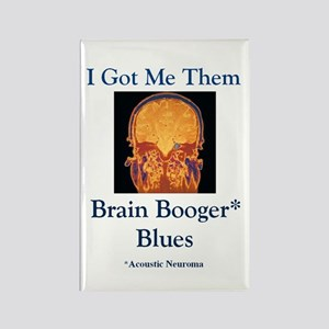 Brain Booger Blues Rectangle Magnet