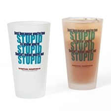 The Stupid Paradox Drinking Glass