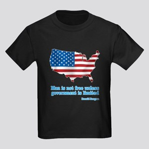 Ronald Reagan Quote Kids Dark T-Shirt