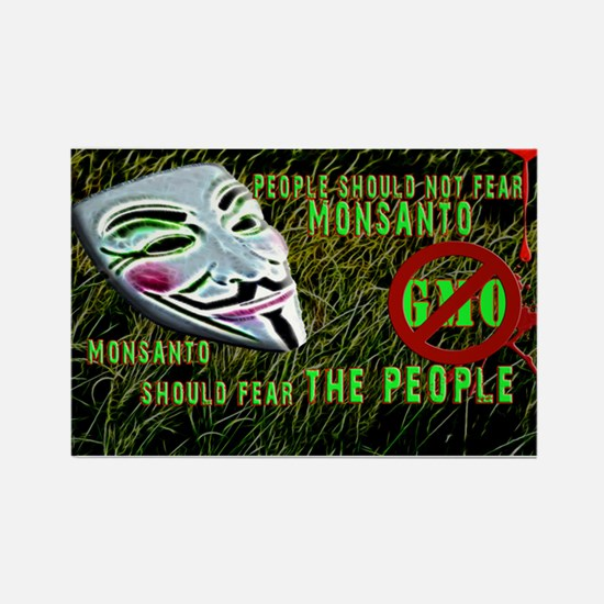 Say No 2 GMO Occupy Farms Rectangle Magnet