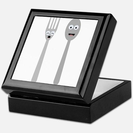 Spoon and Fork Kawaii Keepsake Box