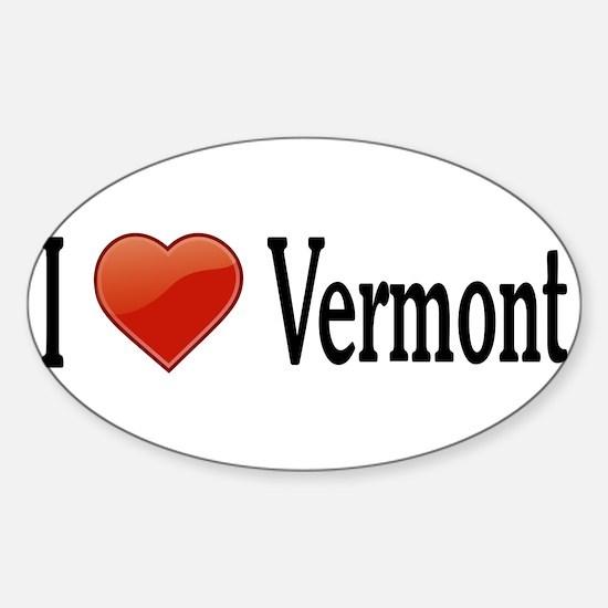 I Love Vermont Sticker (Oval)