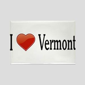 I Love Vermont Rectangle Magnet