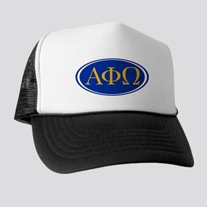 Alpha Phi Omega Letters Trucker Hat