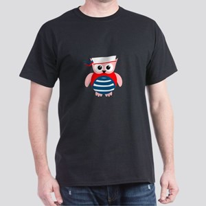 Red White Blue Sailor Owl Dark T-Shirt