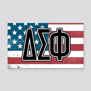 Delta Sigma Phi Flag Rectangle Car Magnet