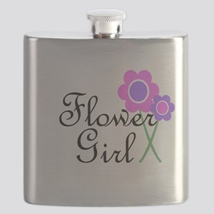 Purple Daisy Flower Girl Flask