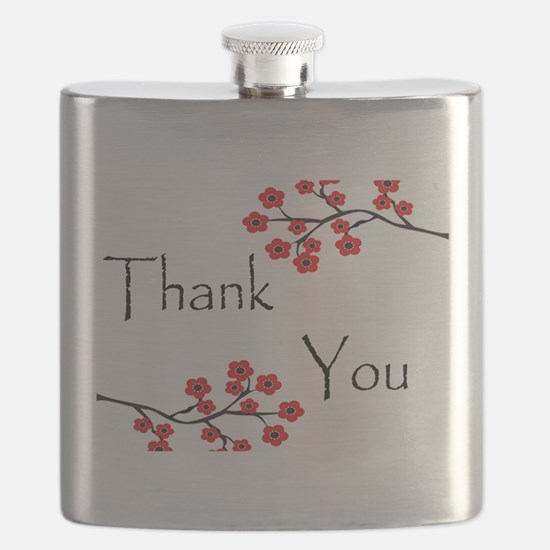 Red Cherry Blossoms Thank You.jpg Flask