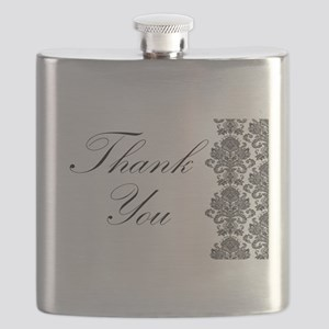 BW Thank You Card Flask