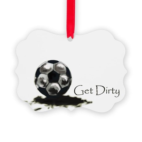 Get Dirty Soccer.png Picture Ornament