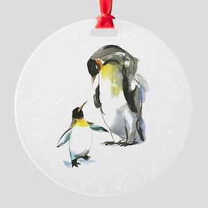 Parent-child Penguin Round Ornament