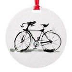 bicycle Round Ornament