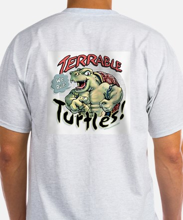 Terrable Turtles Rule Ash Grey T-Shirt