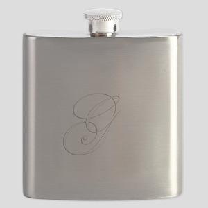 Edwardian Script-G White Flask