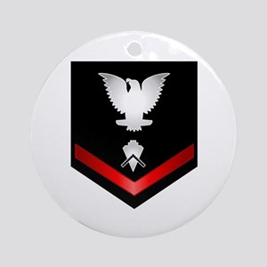 Navy PO3 Builder Ornament (Round)