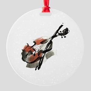 Violin Round Ornament