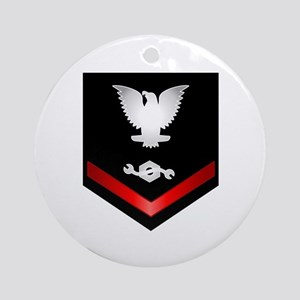 Navy PO3 Construction Mechanic Ornament (Round)
