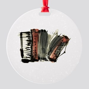 accordion Round Ornament