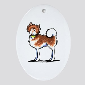 Alaskan Malamute Playtime Ornament (Oval)