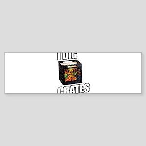 I DIG CRATES Sticker (Bumper)